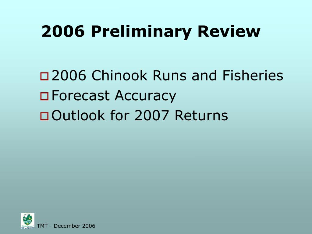 2006 Preliminary Review