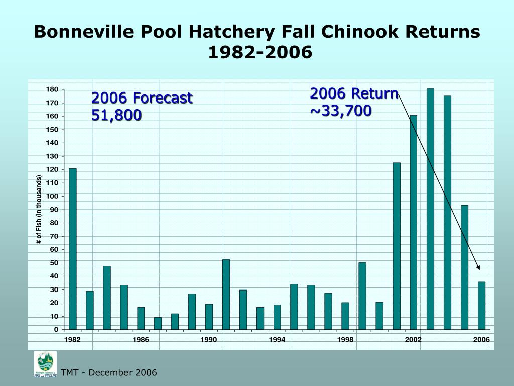 Bonneville Pool Hatchery Fall Chinook Returns
