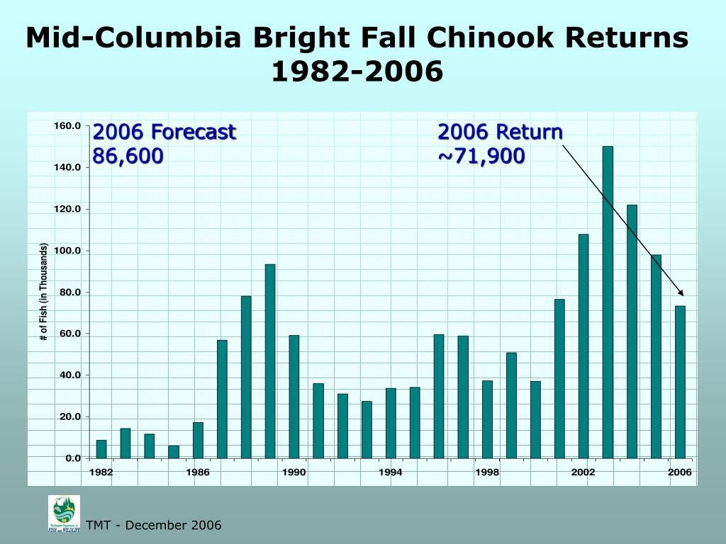 Mid-Columbia Bright Fall Chinook Returns