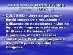 cultismo conceptismo concep es liter rias