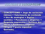 cultismo conceptismo