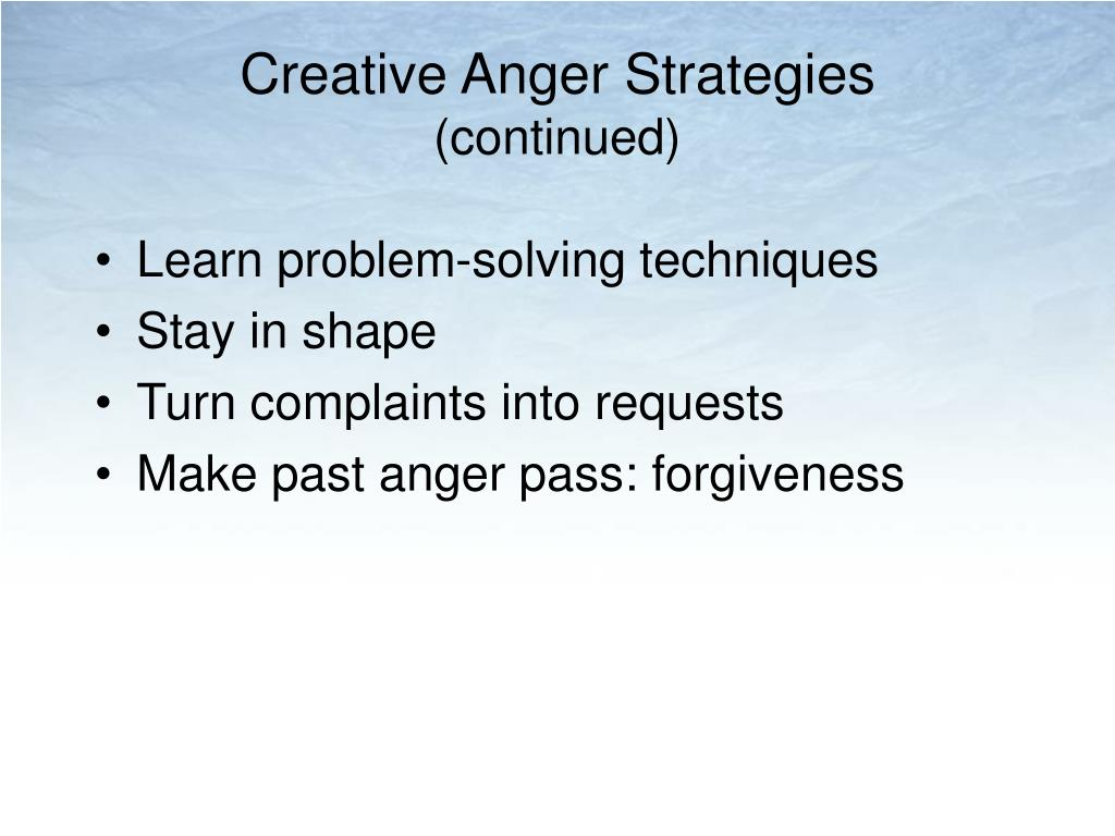 Creative Anger Strategies
