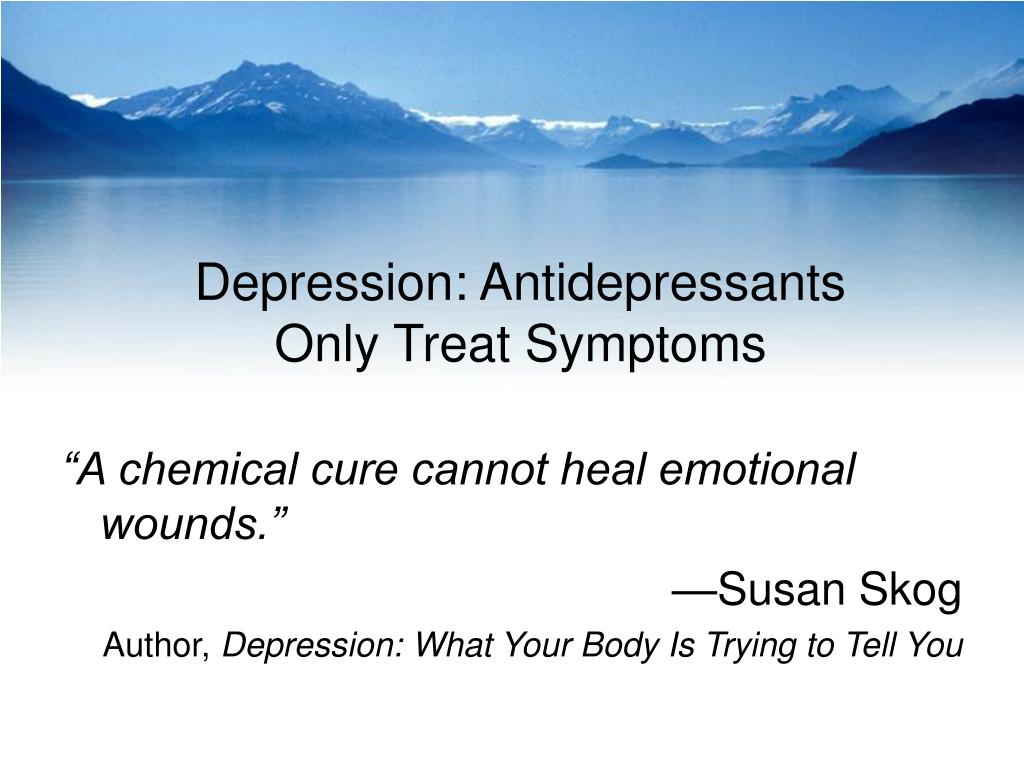 Depression: Antidepressants
