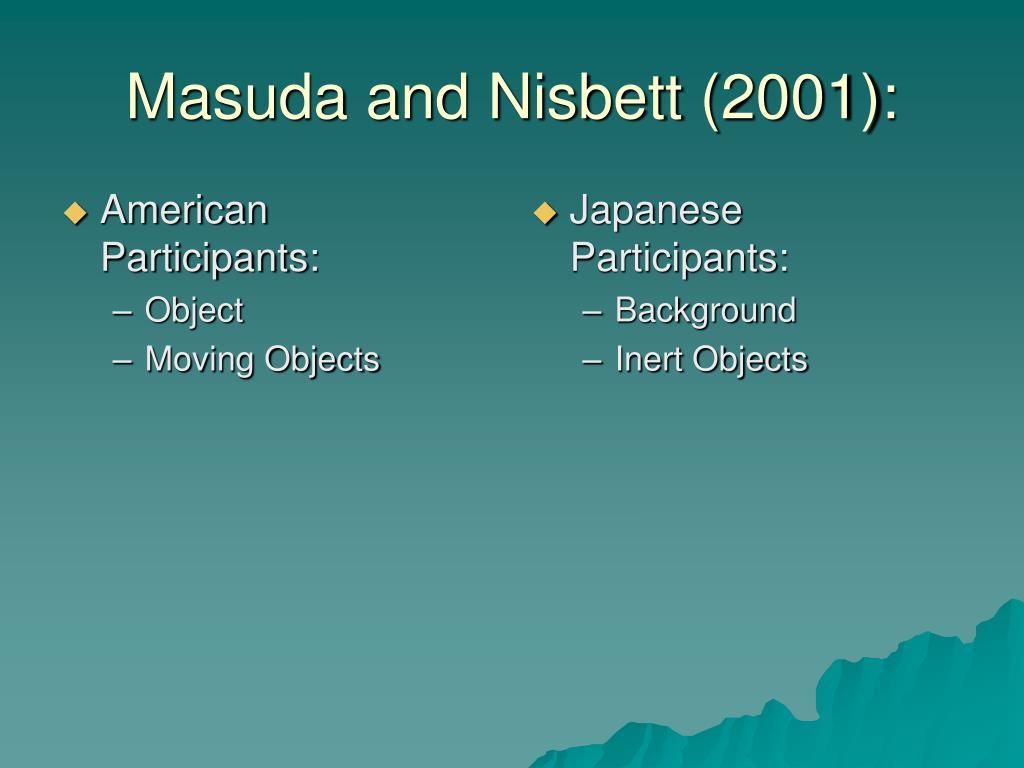 American Participants: