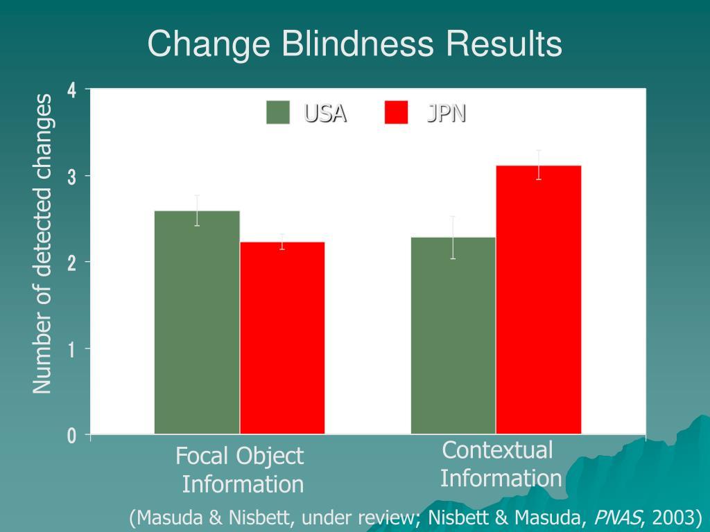 Change Blindness Results