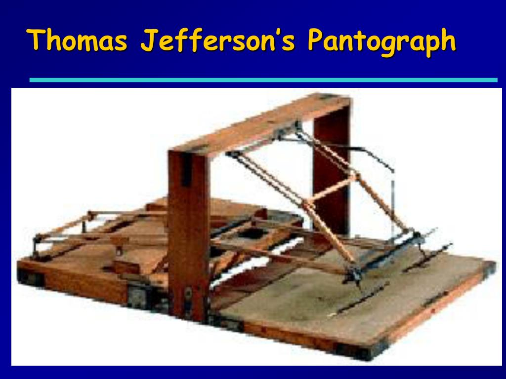 Thomas Jefferson's Pantograph