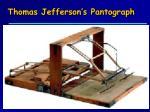 thomas jefferson s pantograph