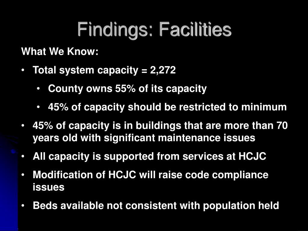 Findings: Facilities