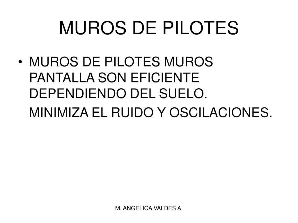 MUROS DE PILOTES