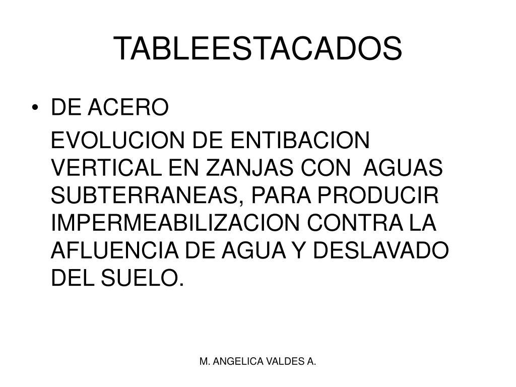 TABLEESTACADOS