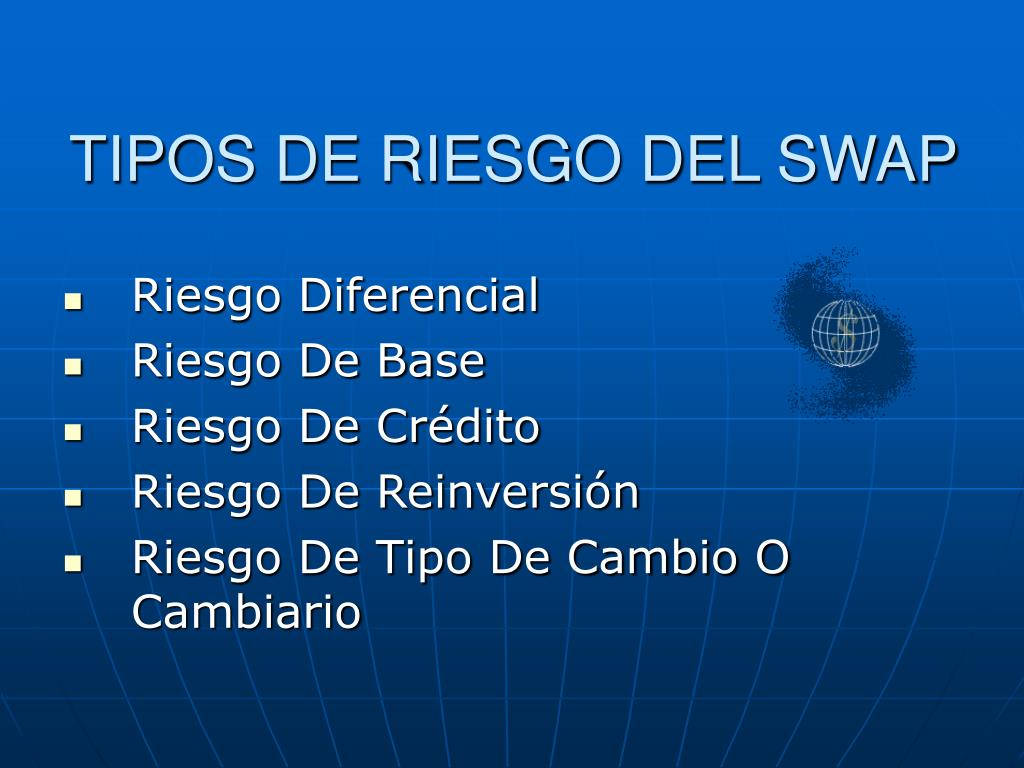 TIPOS DE RIESGO DEL SWAP