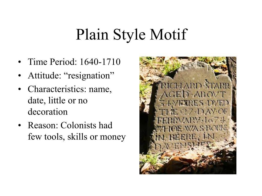 Plain Style Motif