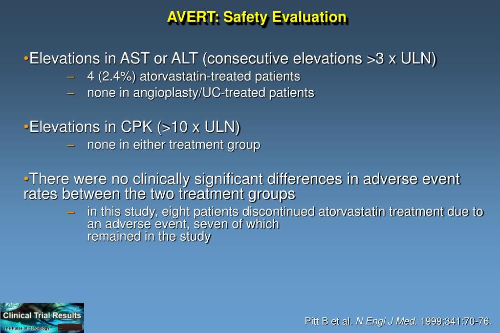 AVERT: Safety Evaluation