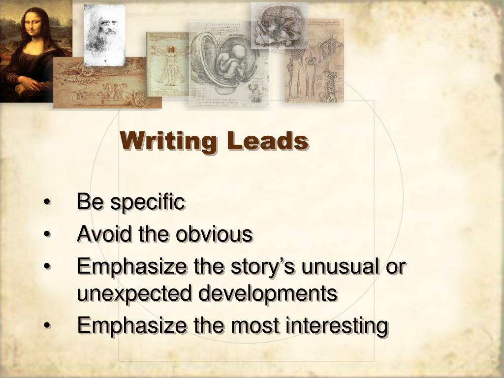 Writing Leads