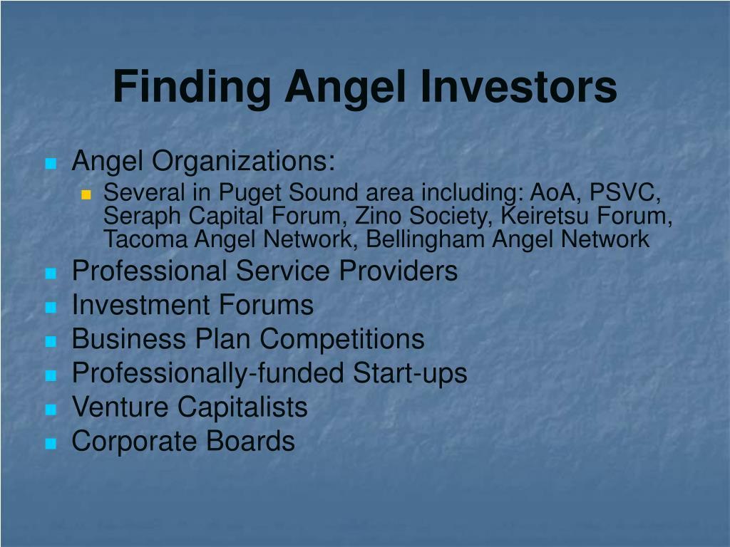 Finding Angel Investors
