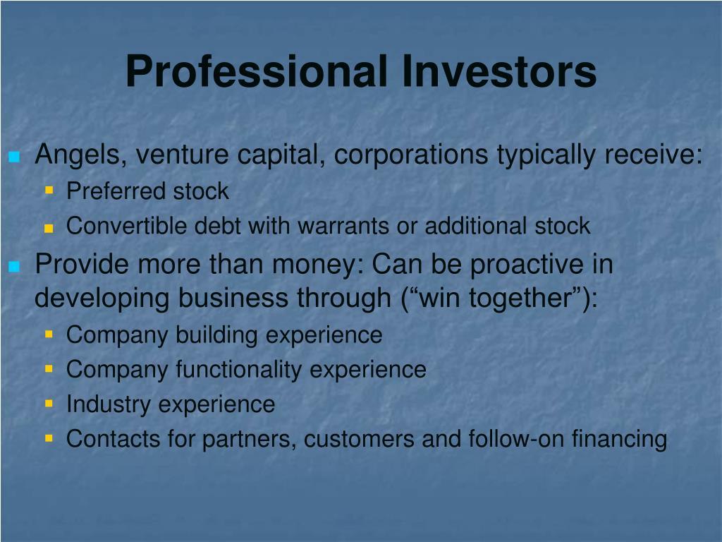 Professional Investors