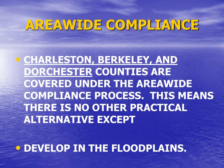 AREAWIDE COMPLIANCE