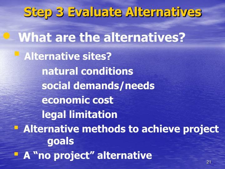 Step 3 Evaluate Alternatives