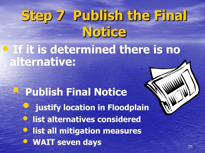 Step 7  Publish the Final Notice