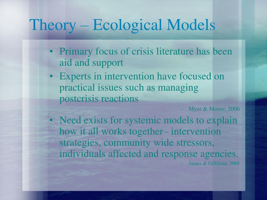 Theory – Ecological Models