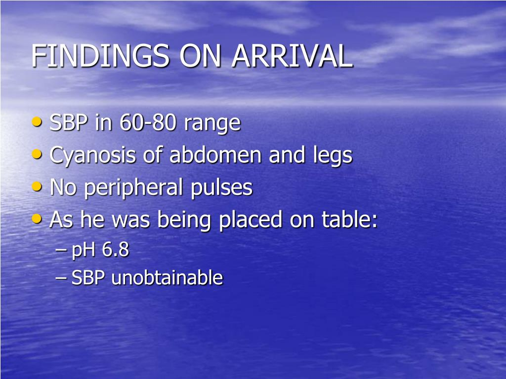 FINDINGS ON ARRIVAL