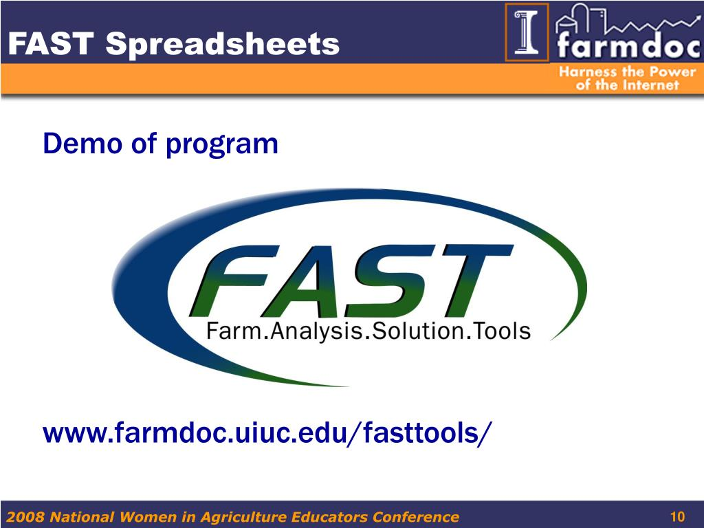 FAST Spreadsheets