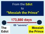 from the edict to messiah the prince