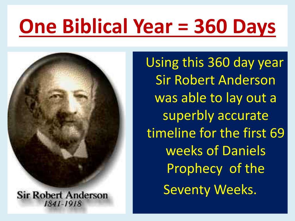 One Biblical Year = 360 Days