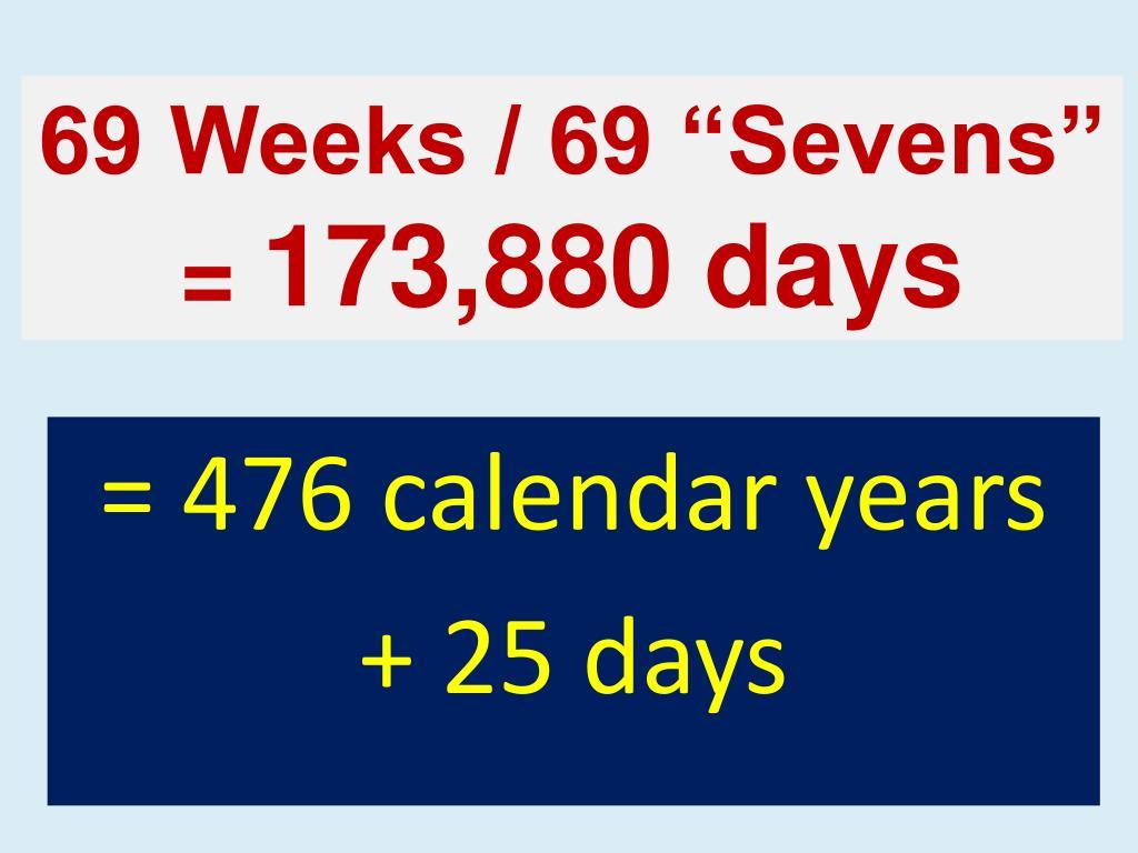 """69 Weeks / 69 """"Sevens"""""""