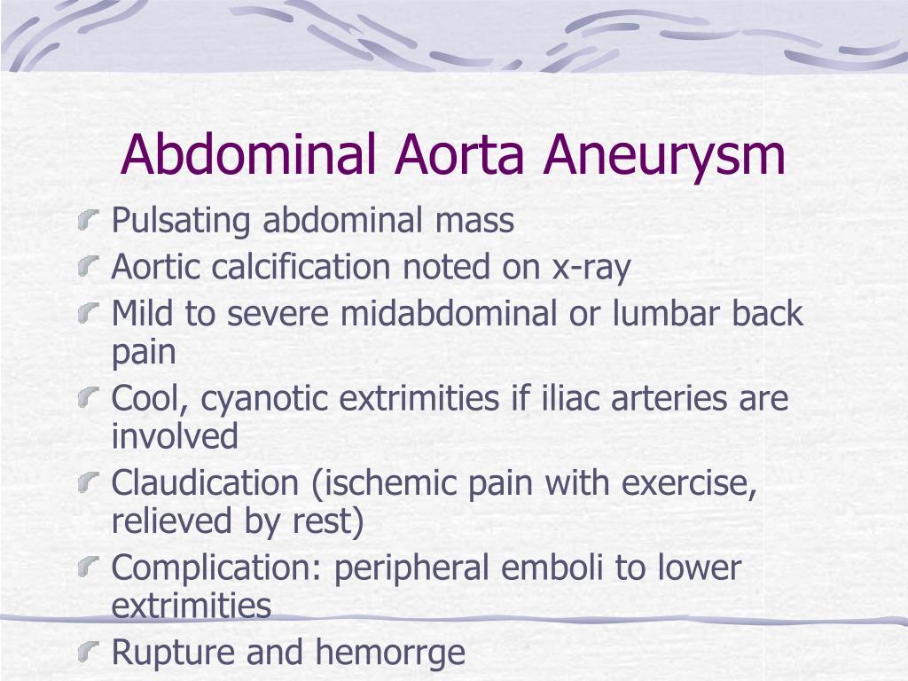 Abdominal Aorta Aneurysm
