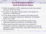 nursing implementation gastrointestinal status53