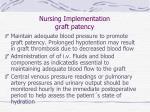 nursing implementation graft patency