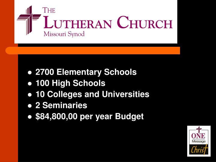 2700 Elementary Schools