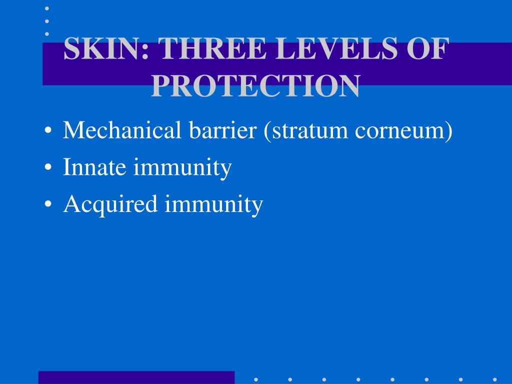 SKIN: THREE LEVELS OF PROTECTION