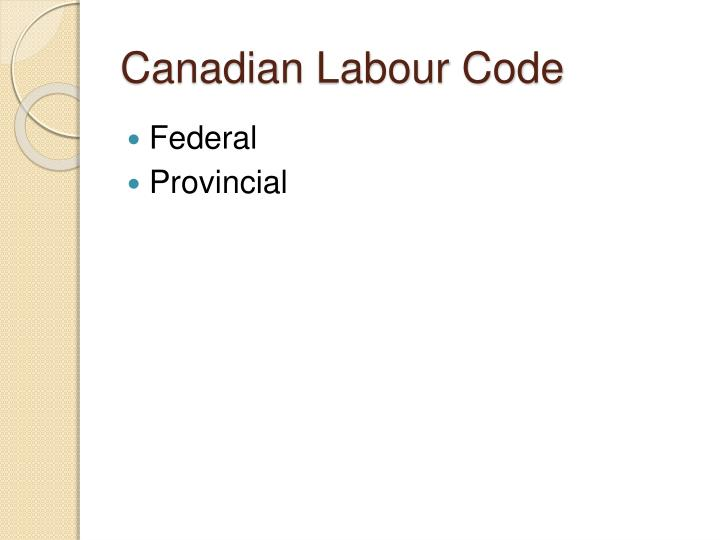Canadian labour code