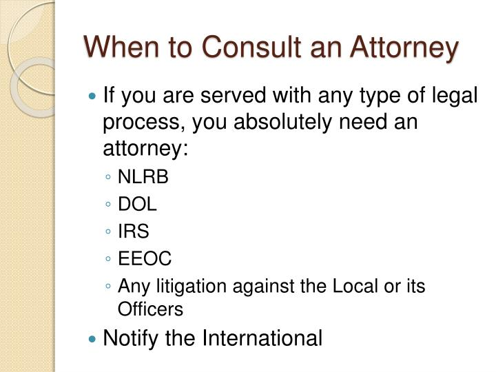 When to Consult an Attorney