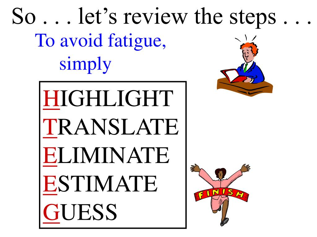 So . . . let's review the steps . . .