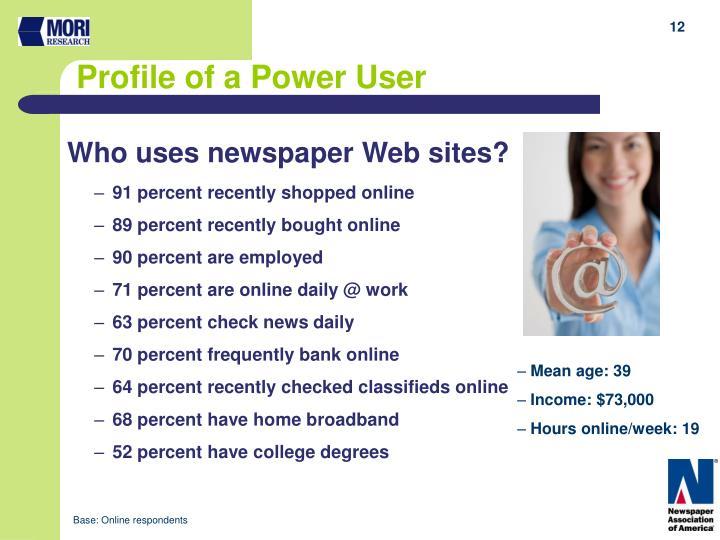 Who uses newspaper Web sites?