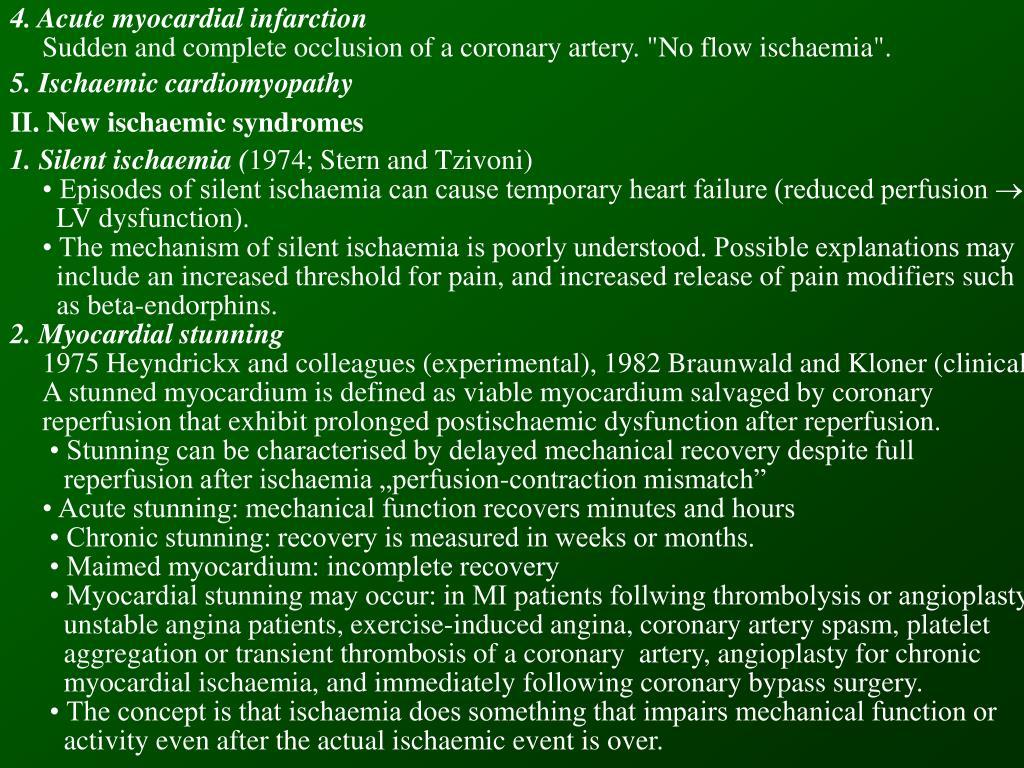 4. Acute myocardial infarction