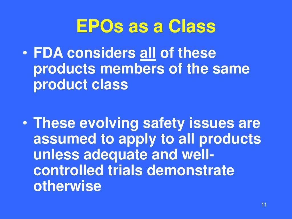 EPOs as a Class