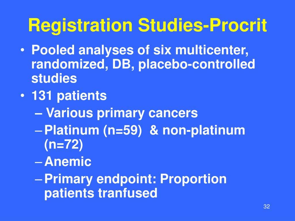 Registration Studies-Procrit
