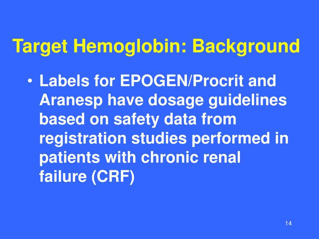 Target Hemoglobin: Background