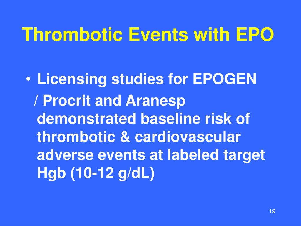 Thrombotic Events with EPO