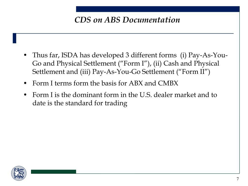 CDS on ABS Documentation