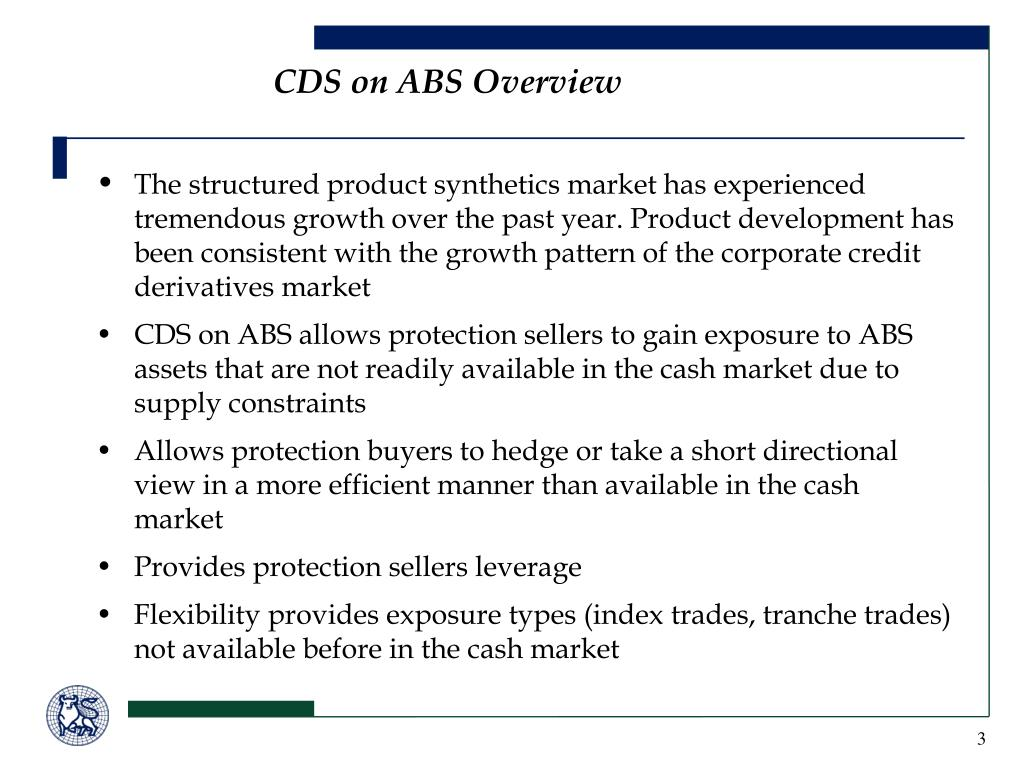 CDS on ABS Overview