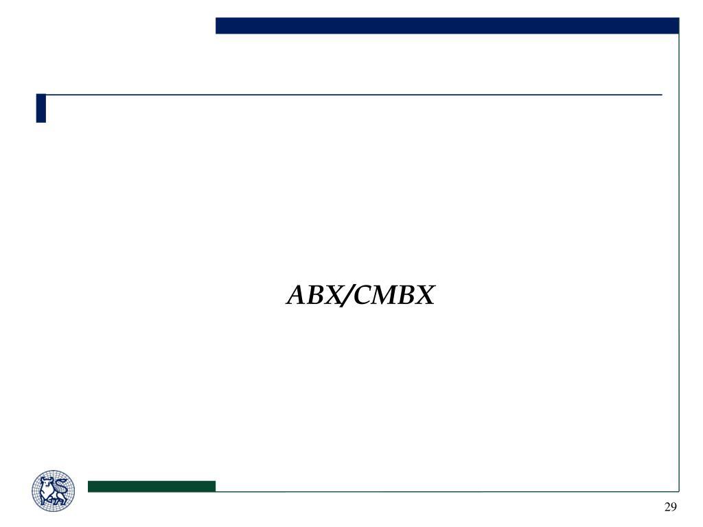 ABX/CMBX