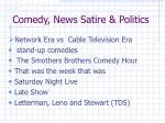 comedy news satire politics