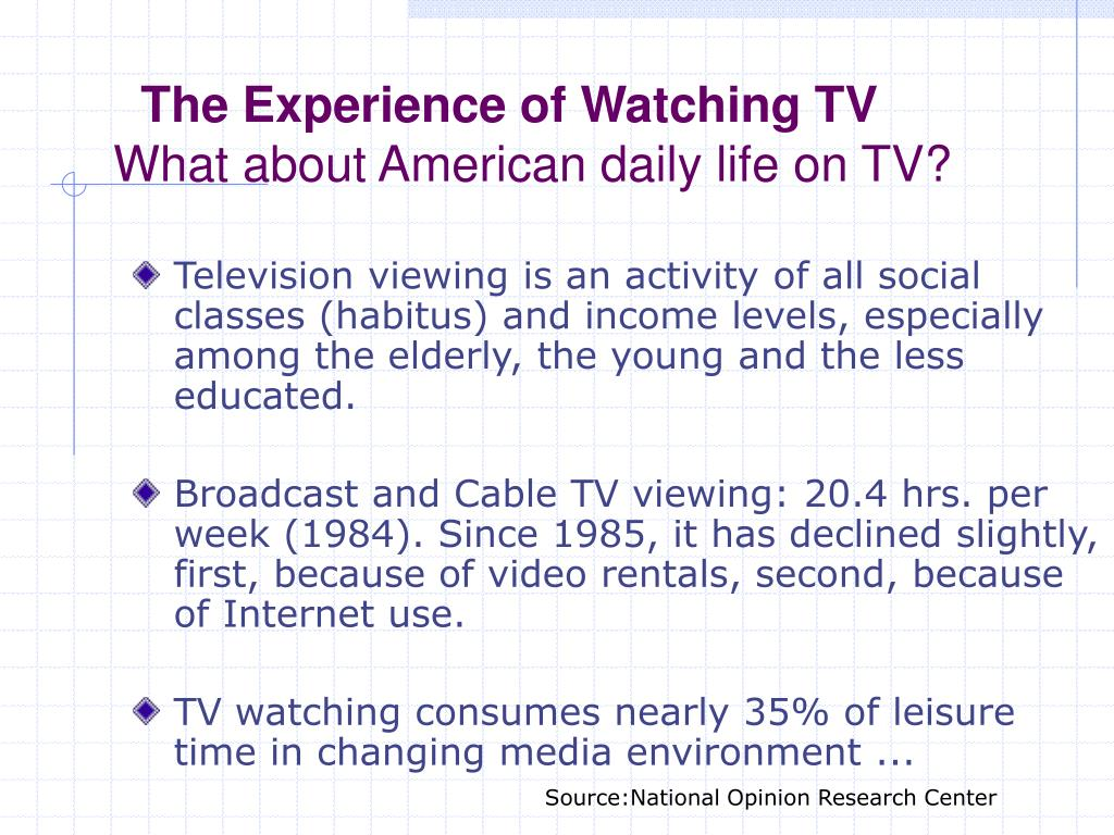 The Experience of Watching TV