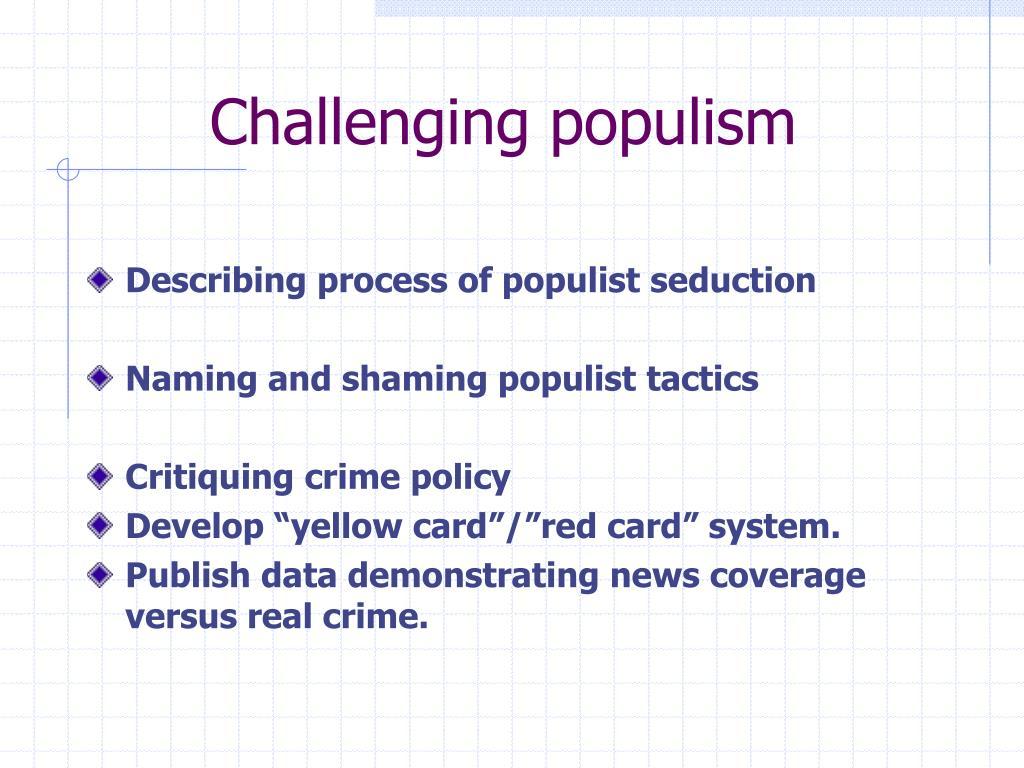 Challenging populism