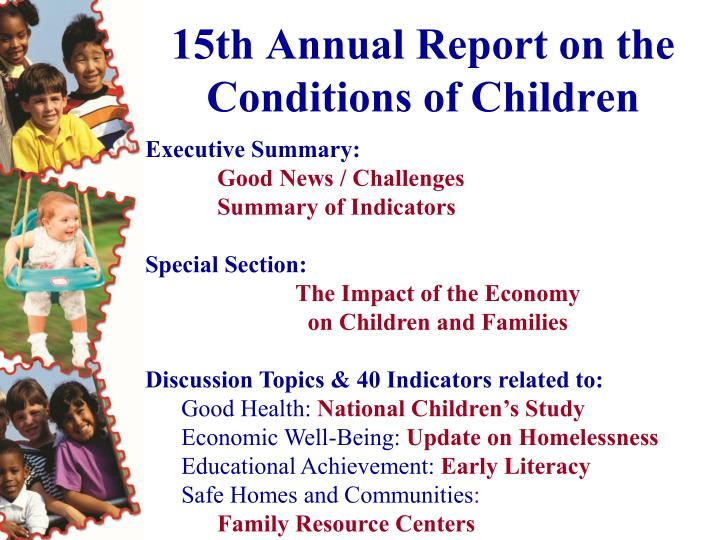 15th annual report on the conditions of children